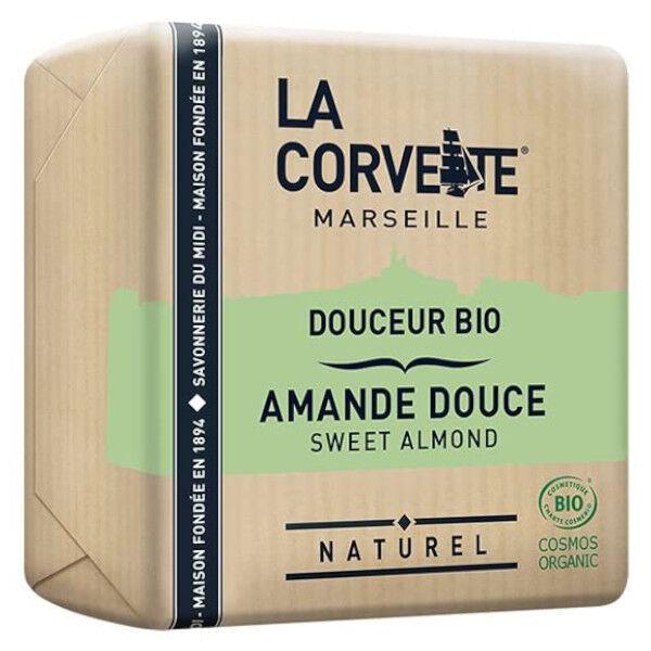 La Corvette Marseille Savon Douceur Bio Amande Douce 100g