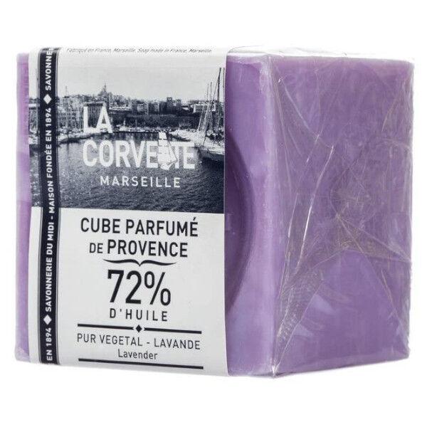 La Corvette Marseille Cube Parfumé de Provence Lavande Filmé 200g
