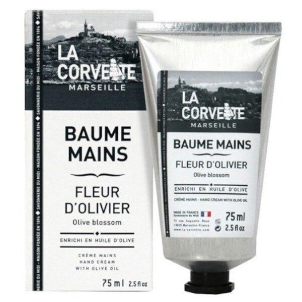 La Corvette Marseille Baume Mains Fleur d'Olivier Bio 75ml