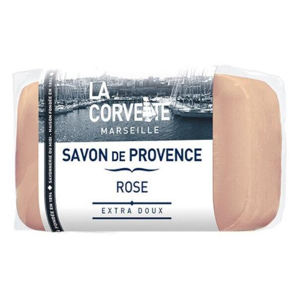 La Corvette Marseille Savon de Provence Rose Filmé 100g