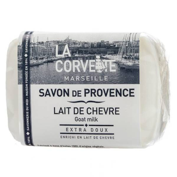 La Corvette Marseille Savon de Provence Lait de Chèvre Filmé 100g