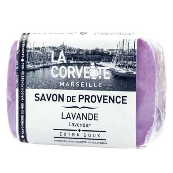 La Corvette Marseille Savon de Provence Lavande Filmé 100g