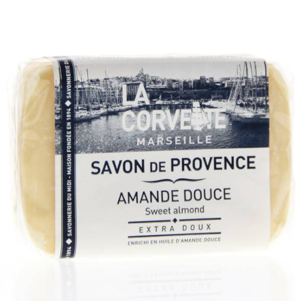 La Corvette Marseille Savon de Provence Amande Douce Filmé 100g