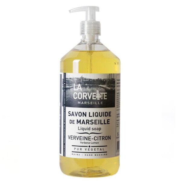 La Corvette Marseille Savon Liquide de Marseille Verveine-Citron 1L