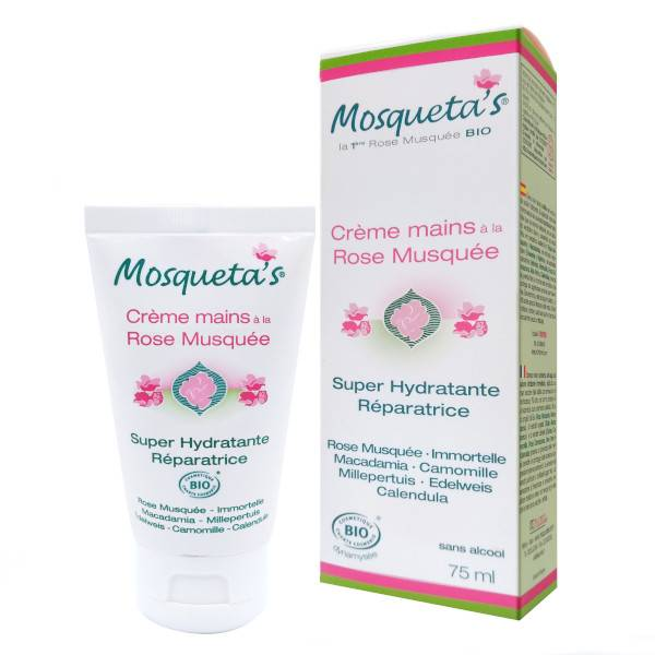 Kosmeo B Mosqueta's Crème Main à la Rose Musquée Bio 75ml