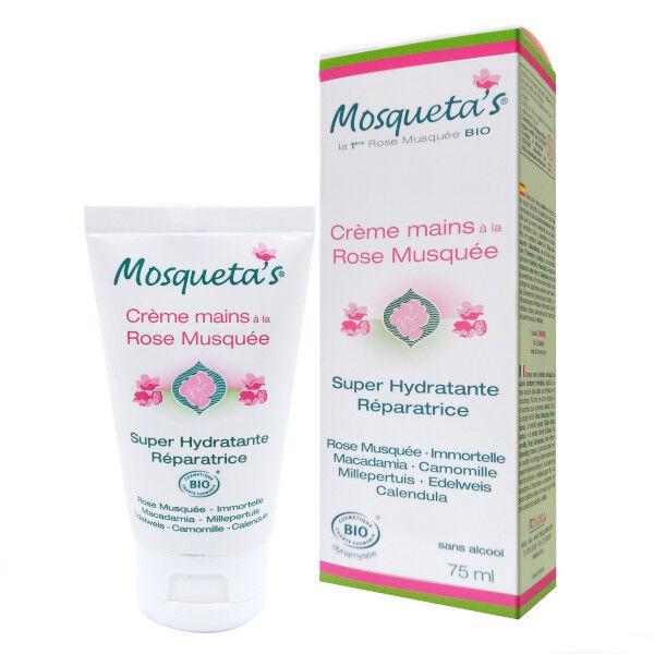 Mosqueta s Mosqueta's Crème Main à la Rose Musquée Bio 75ml