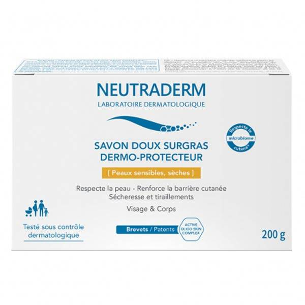 Neutraderm Savon Doux Surgras Dermo-Protecteur 200g