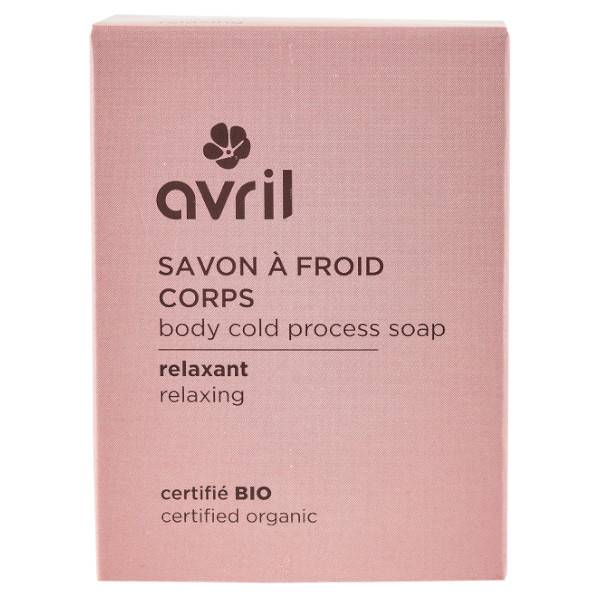 Avril Corps Savon à Froid Relaxant Bio 100g
