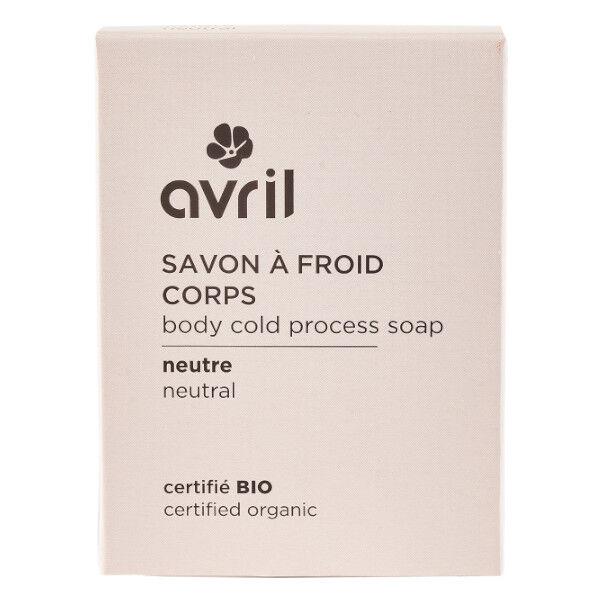 Avril Savon à Froid Corps Neutre Bio 100g
