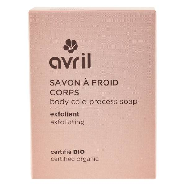 Avril Savon à Froid Corps Exfoliant Bio 100g