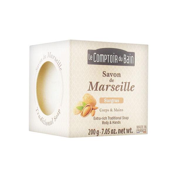 Le Comptoir du Bain Savon de Marseille Surgras Corps et Mains 200g