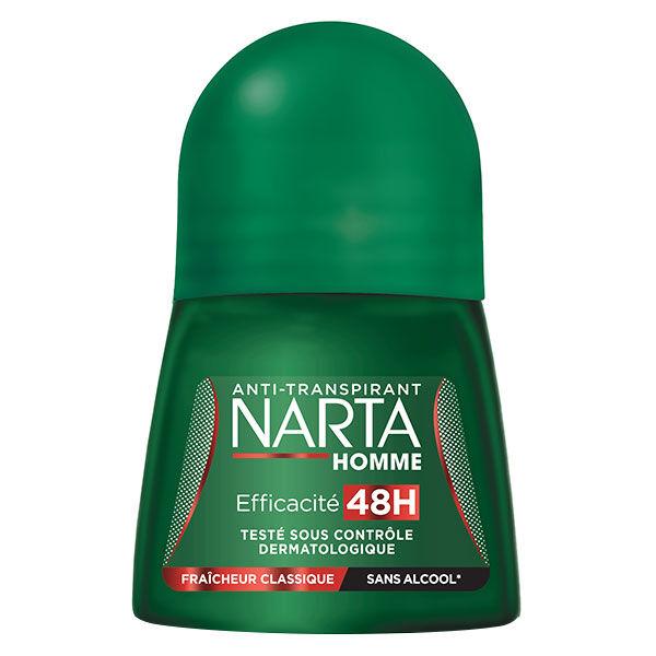 Narta Homme Déodorant Anti-Transpirant Fraîcheur Classique 24h Bille 50ml