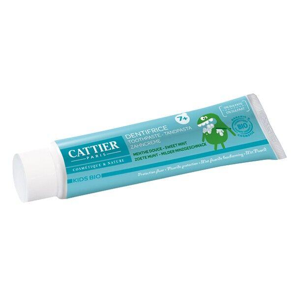 Cattier Dentifrice Kids Bio 7 ans et + Goût Menthe Douce 50ml