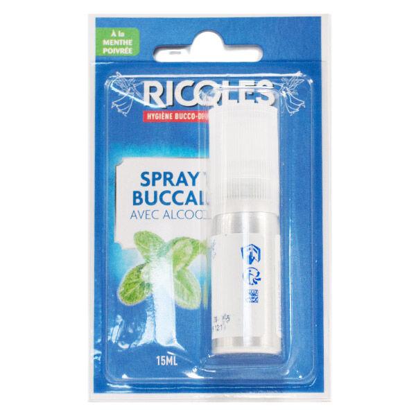 Ricqles Spray Buccal Menthe Poivrée avec Alcool 15ml