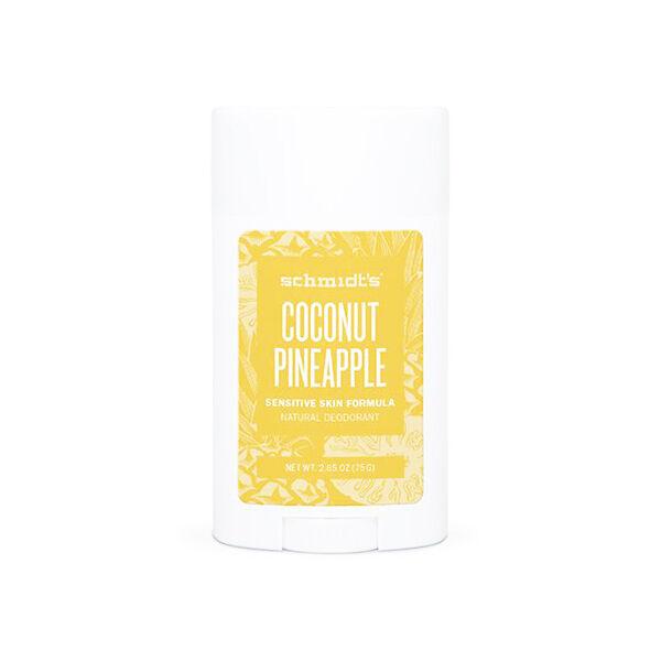 Schmidt's Déodorant Stick Sensitive Noix de Coco Ananas 75g
