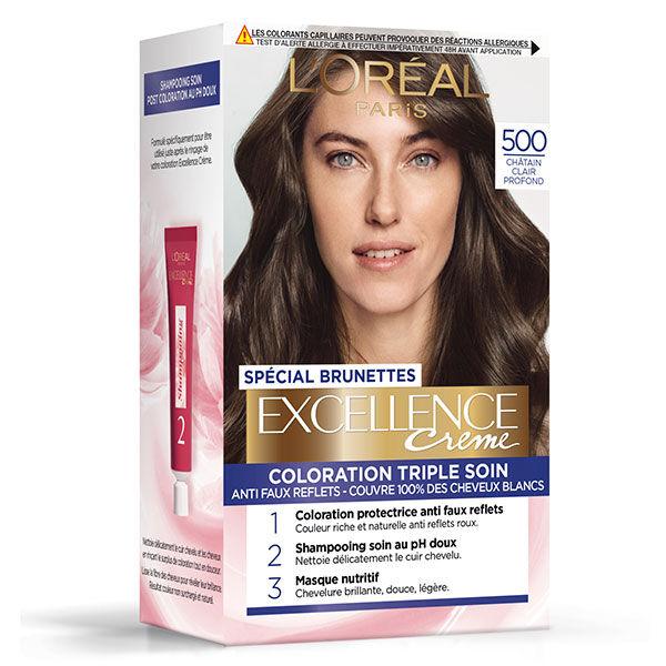 L'Oréal Paris L'Oréal Excellence Coloration Brunettes Châtain Clair Pronfond 500