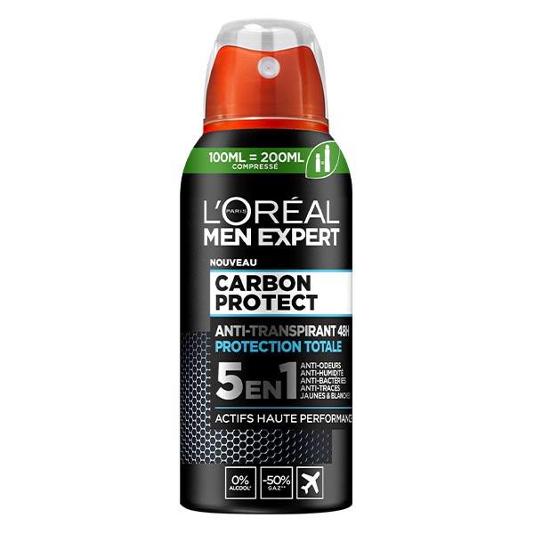 L'Oréal Paris L'Oréal Men Expert Carbon Protect 5en1 Déodorant Spray Compressé Anti-Transpirant 48h 100ml