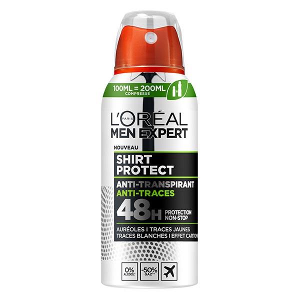 L'Oréal Paris L'Oréal Men Expert Shirt Protect Déodorant Spray Compressé Anti-Transpirant 48h 100ml