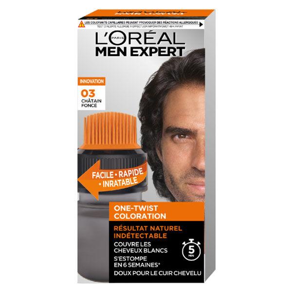 L'Oréal Paris Men Expert Coloration One-Twist N°3 Châtain Foncé
