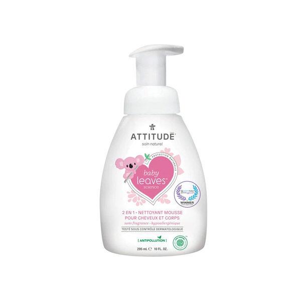 Attitude Baby Leaves 2en1 Nettoyant Mousse Sans Fragrance