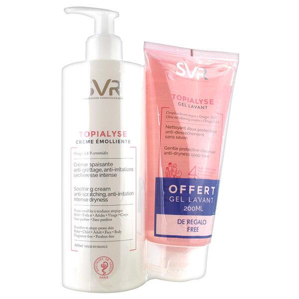 SVR Topialyse Coffret Crème Emolliente 400ml + Gel Lavant 200ml Offert
