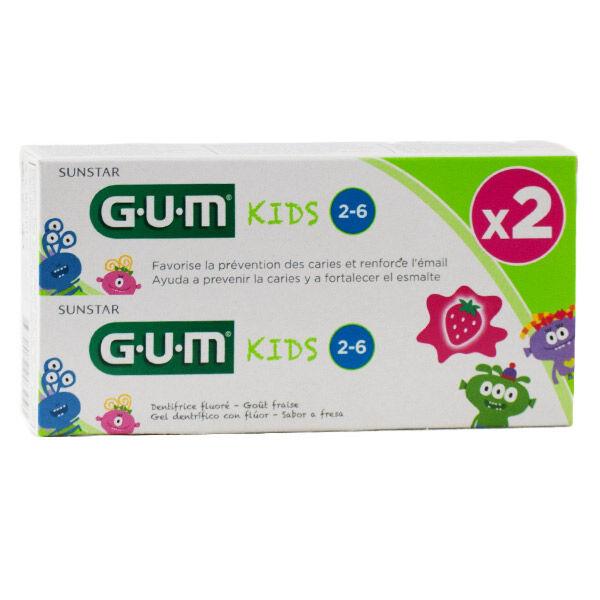 Gum Dentifrice Kids 2 à 6 ans Lot de 2 x 50ml