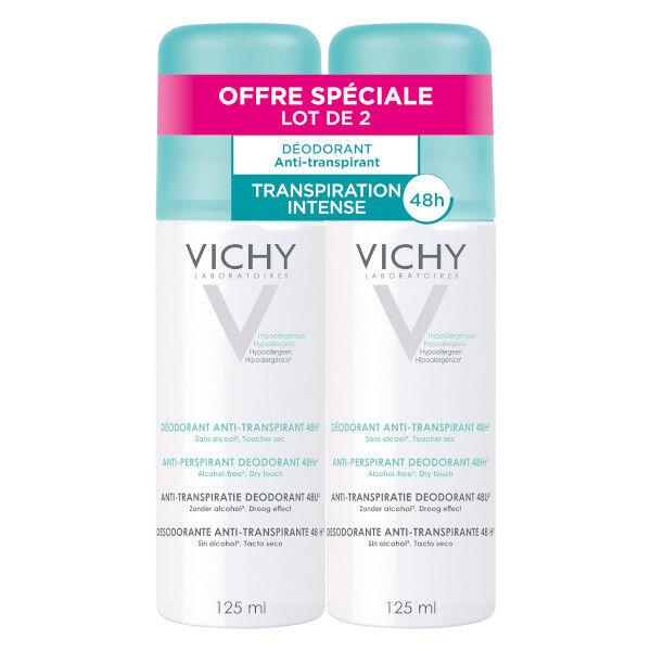 Vichy Déodorant Anti-Transpirant 48h Spray Lot de 2 x 125ml
