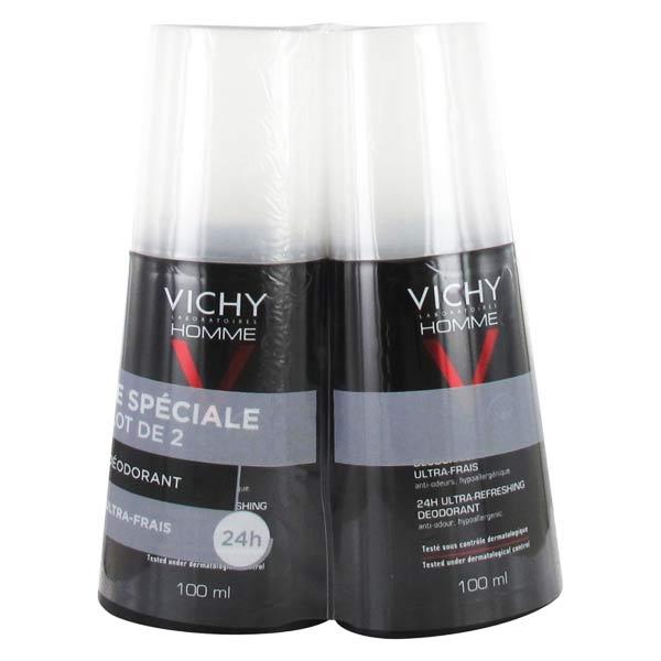 Vichy Homme Déodorant Ultra-Frais 24h Spray Lot de 2 x 100ml