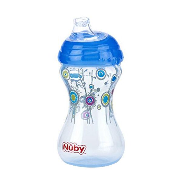 Nuby Gobelet Easy Grip Bec Souple Anti-Goutte Bleu Foncé +6m 300ml