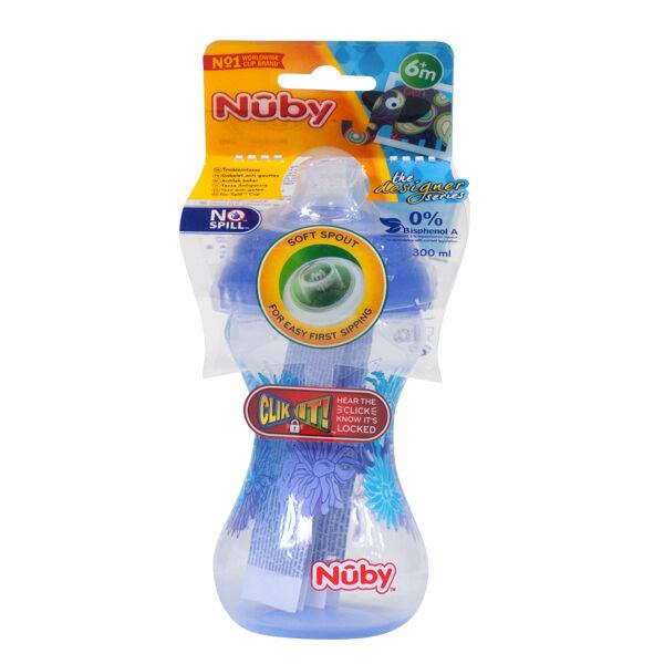 Nuby Gobelet Easy Grip Bec Souple Anti-Goutte Violet +6m 300ml
