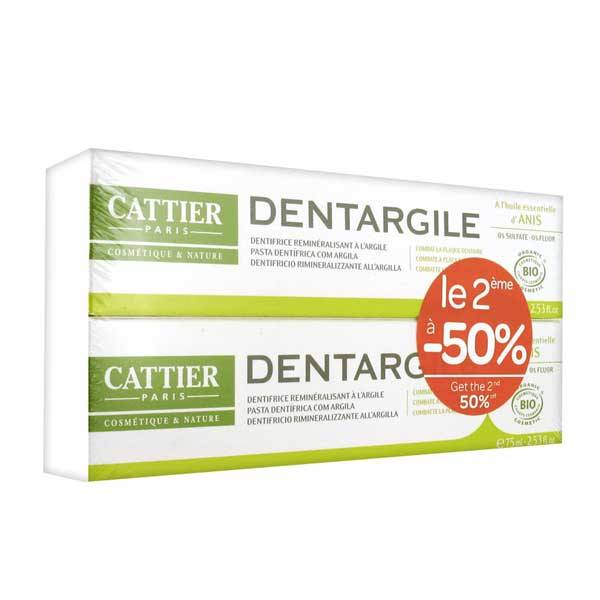 Cattier Dentifrice Dentargile Anis Lot de 2 x 75ml