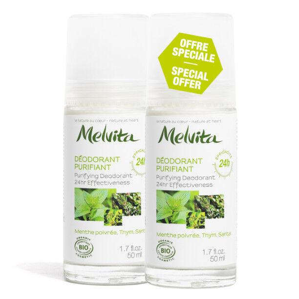 Melvita Les Essentiels Déodorant Efficacité 24H Bio Lot de 2 x 50ml