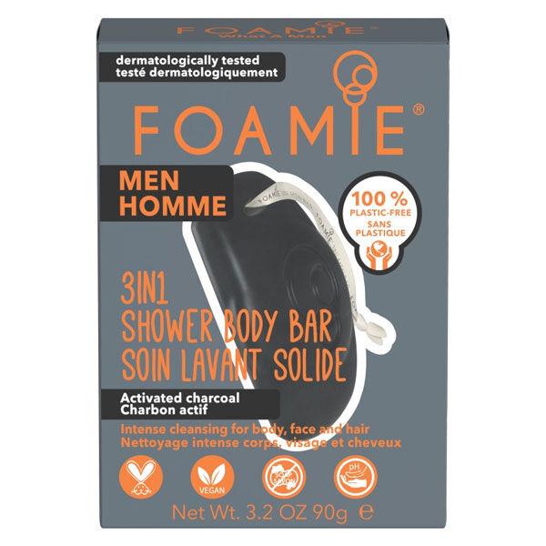 Astrodif Foamie Homme Soin Lavant Solide 3 en 1 Charbon Actif 90g