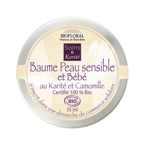 Biofloral Baume Peau Sensible & Bébé Karité et Camomille Bio 35ml