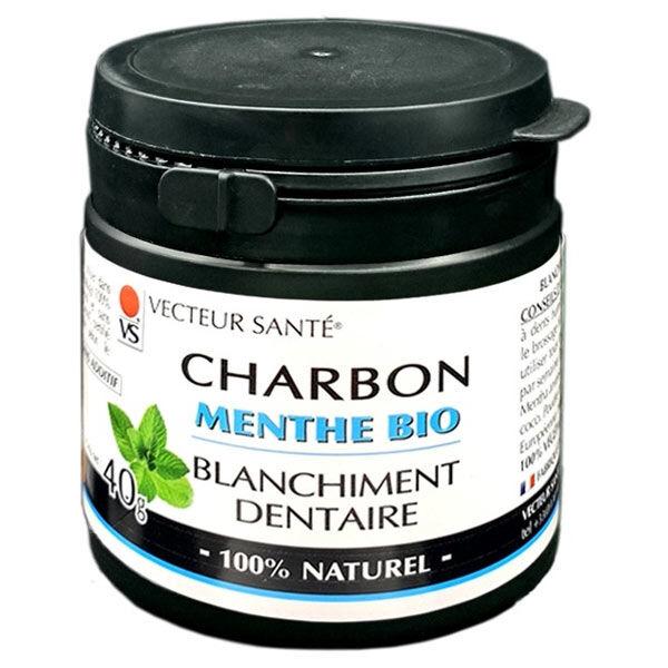 Vecteur Santé Charbon Blanchiment Dentaire Menthe Bio 30g