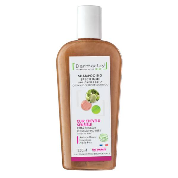 Dermaclay Shampoing Bio Extra Douceur Cheveux Fragiles et Delicats 250ml