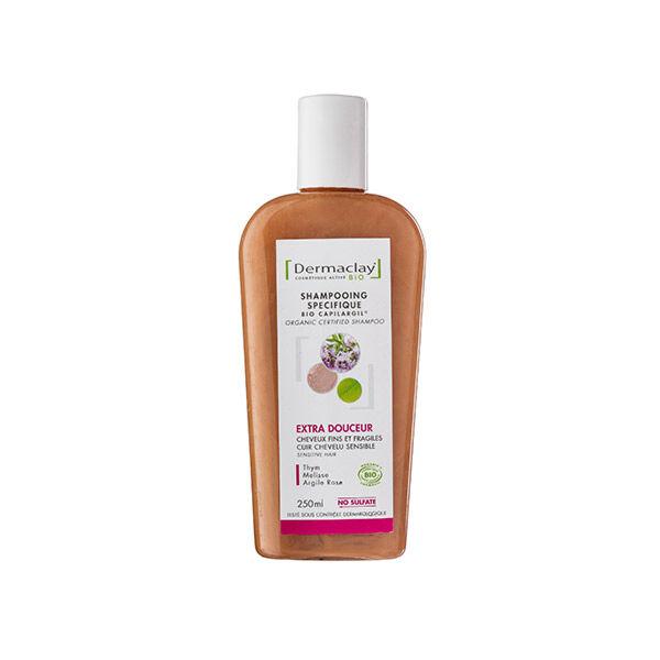 Dermaclay Shampoing Bio Extra Douceur Cheveux Fragiles et Delicats 250ml