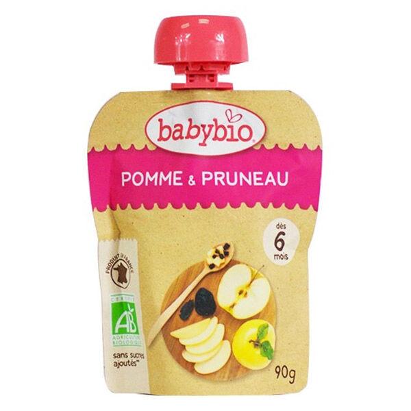 Babybio Mes Fruits Gourdes Pomme Pruneau dès 6 mois 90g