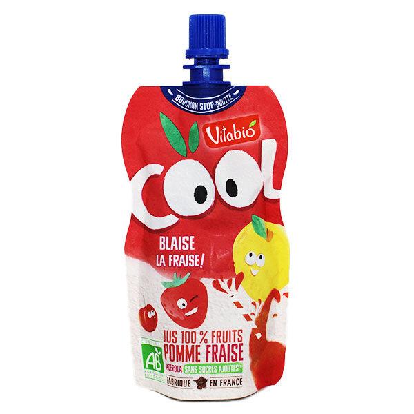 Vitabio Cool Jus 100% Fruits Pomme Fraise Acérola Bio 105ml