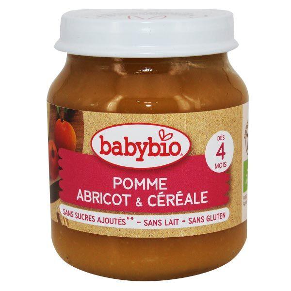 Babybio Fruits Pot Pomme Abricot Céréale +4m Bio 130g