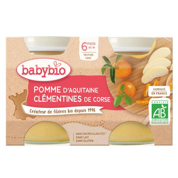 Babybio Fruits Pot Pomme Clémentine Corse +6m Bio 2 x 130g