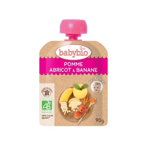Babybio Mes Fruits Gourde Pomme Abricot Banane +6m Bio 90g