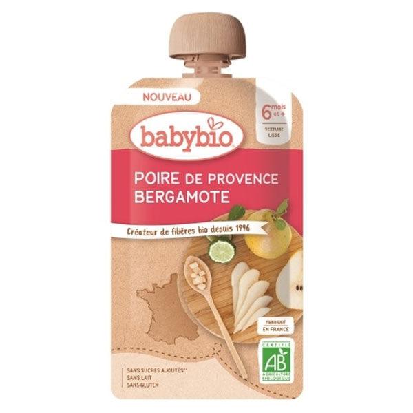 Babybio Douceur de Fruits Gourde Poire Bergamote +6m Bio 120g