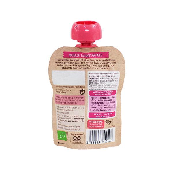 Babybio Mes Fruits avec Légumes Gourde Pomme Patate Douce +6m Bio 90g