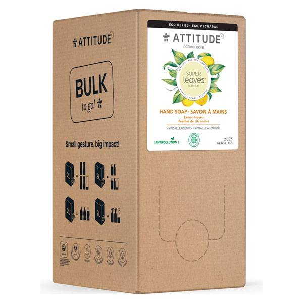 Attitude Super Leaves Savon Mains Feuilles de Citronnier 2L