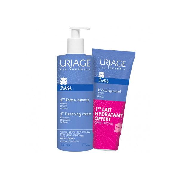 Uriage Bébé Crème Lavante Flacon 500ml + 1er Lait Hydratant 200ml Offert