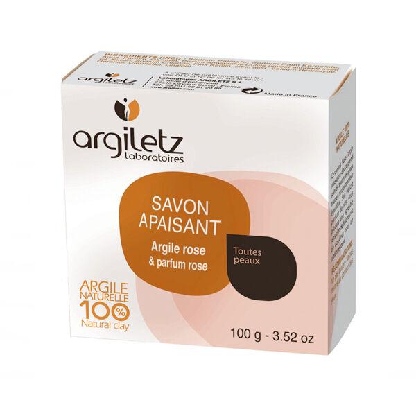 Argiletz Savon Naturel Apaisant Argile Rose Parfum Rose 100g