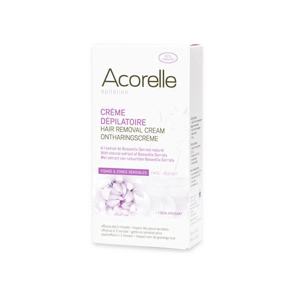 Acorelle Epilation Crème Dépilatoire Visage et Zones Sensibles 75ml
