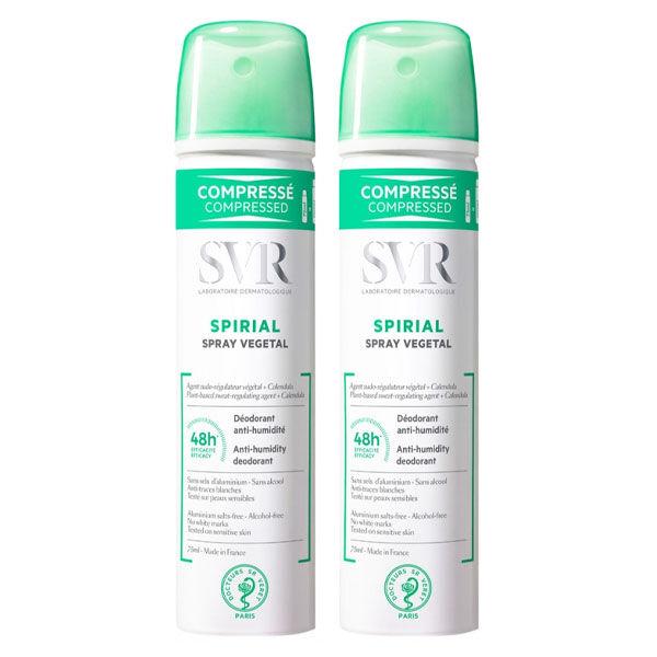 SVR Spirial Spray Anti-Transpirant Végétal Lot de 2 x 75ml