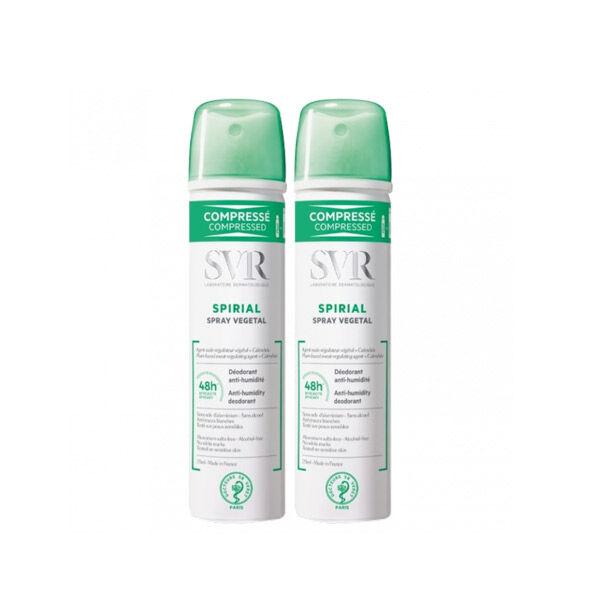 SVR Spirial Anti-transpirant Végétal Spray Lot de 2 x 75ml